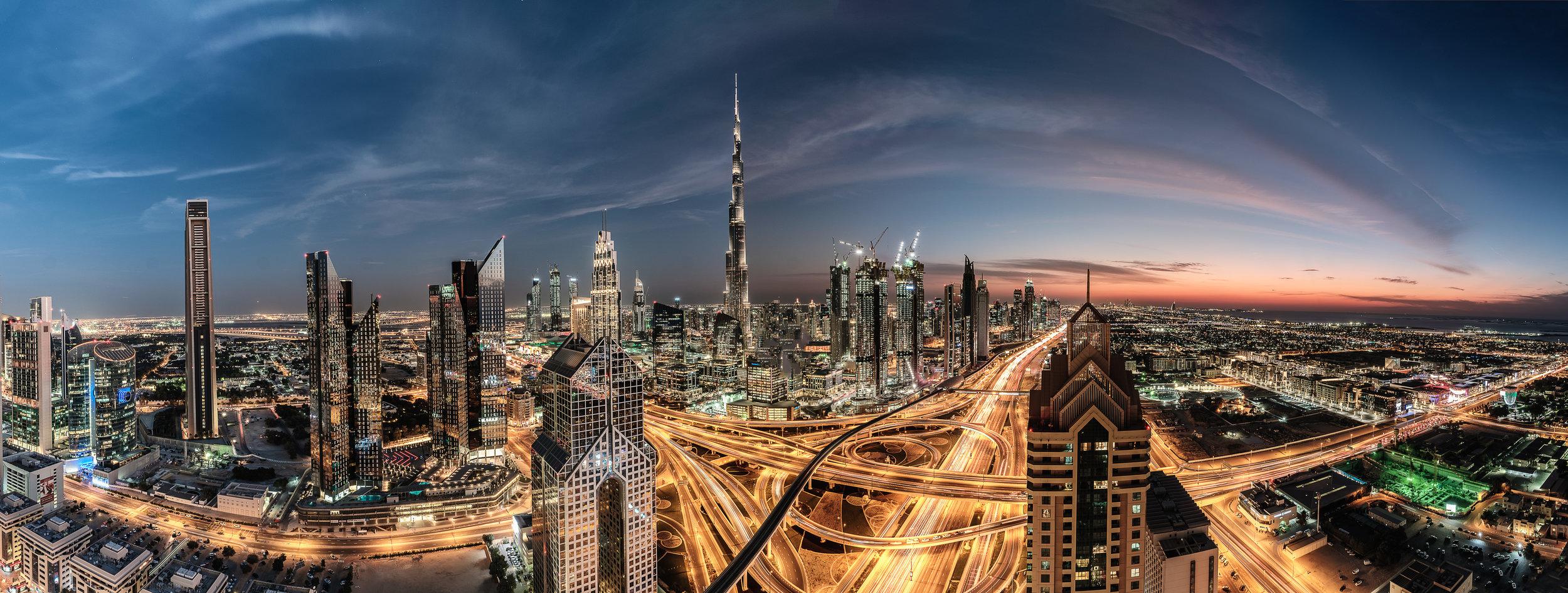 Dubai Cityview from the Shangrila Hotel