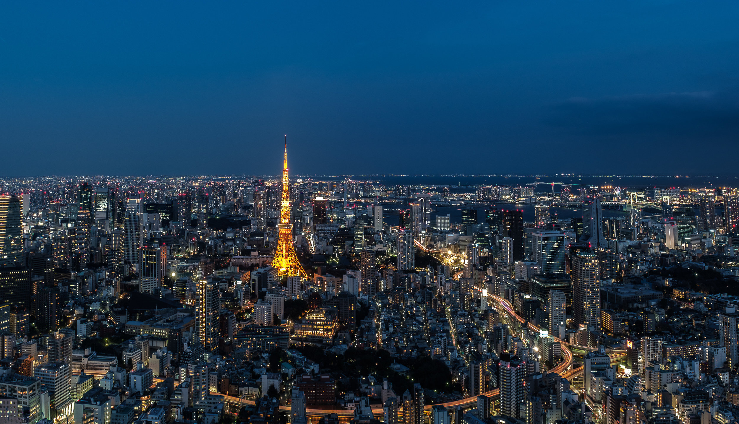 Tokyo City View from Mori Tower, Ripponji