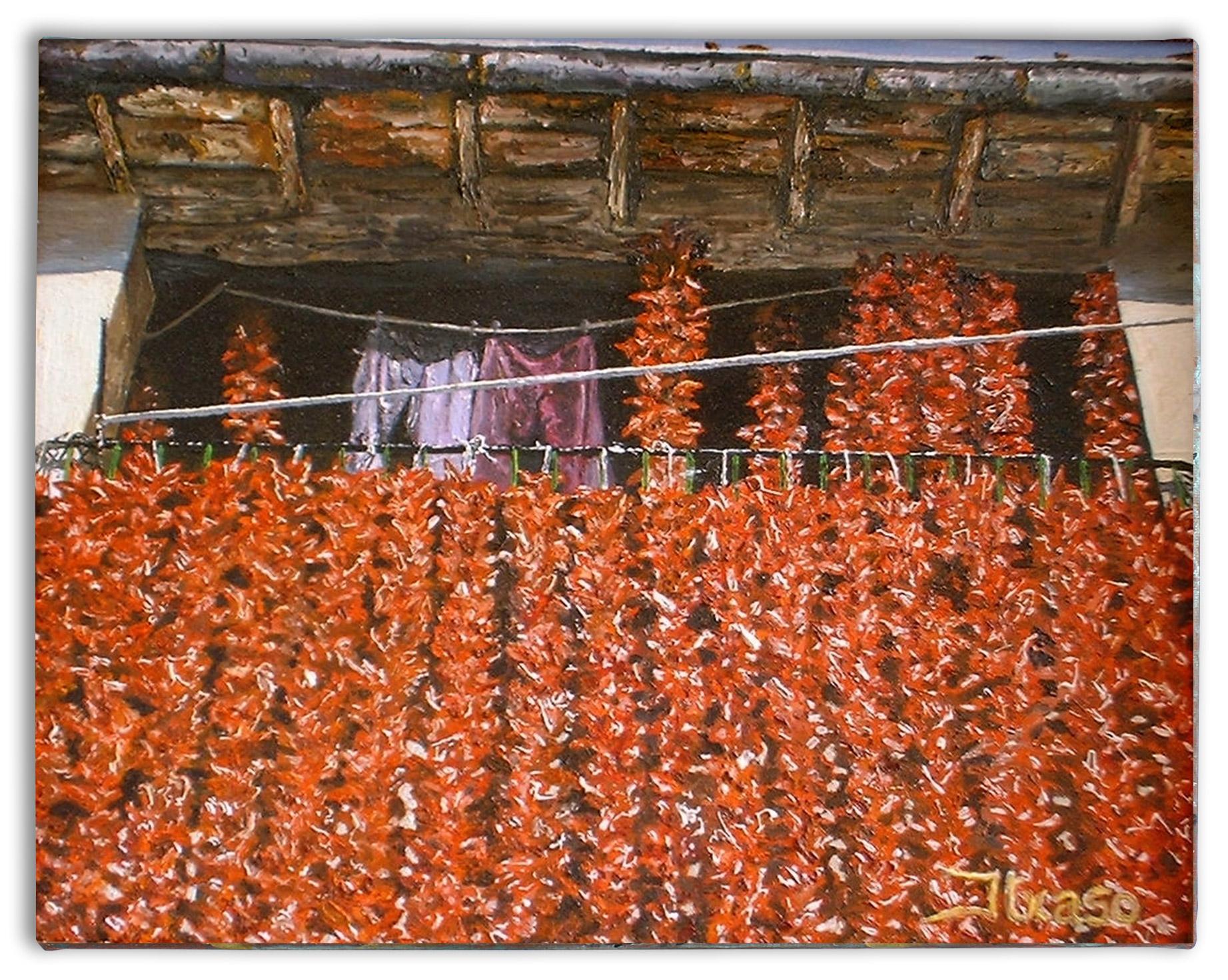 Balconada de pimientos. Lodosa