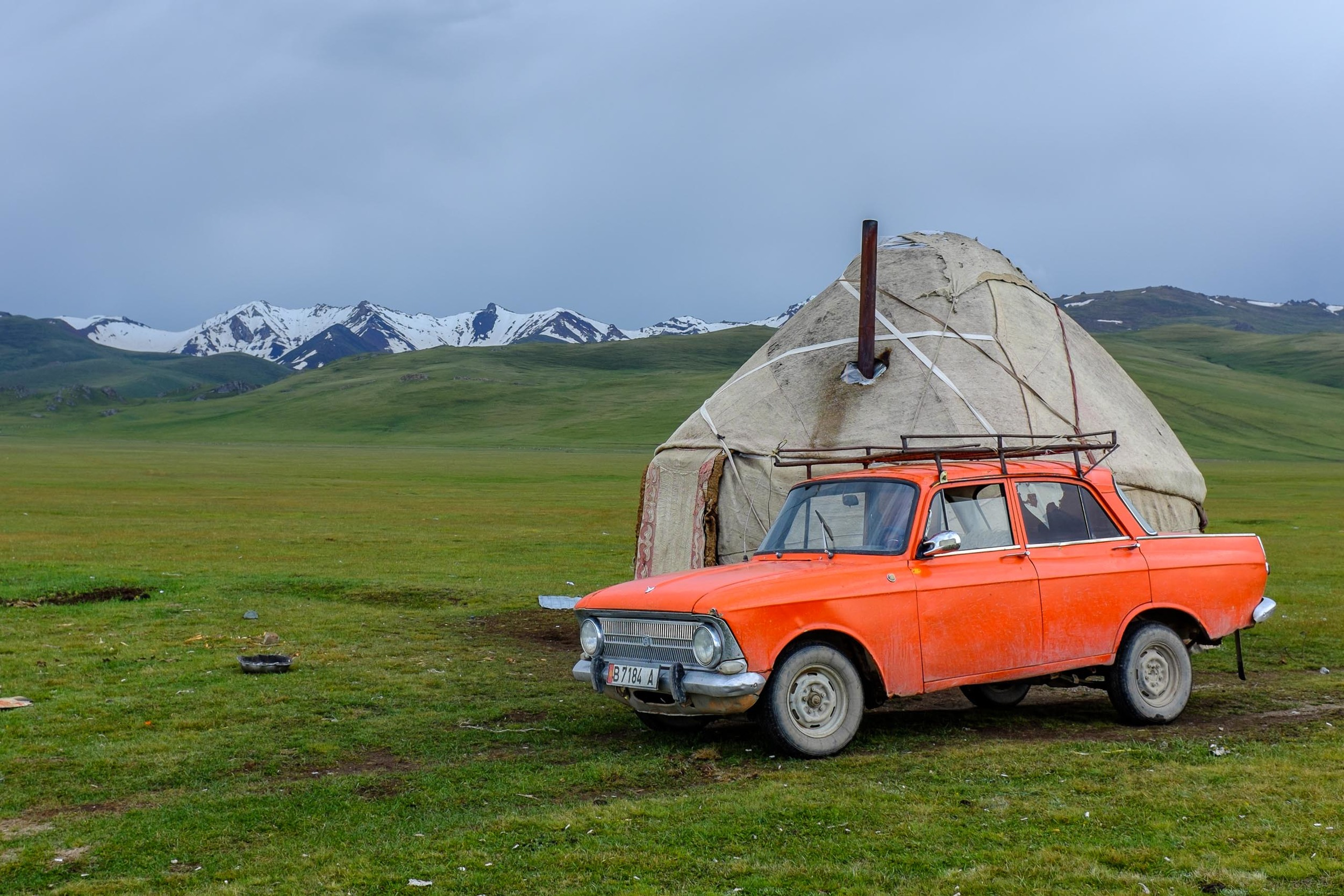 The ubiquitous Lada is by far the most popular car in Kyrgyzstan