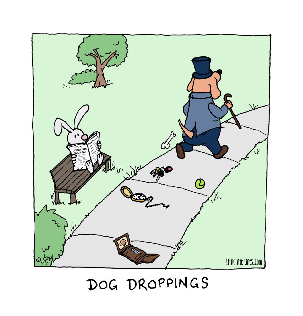 Dog droppings