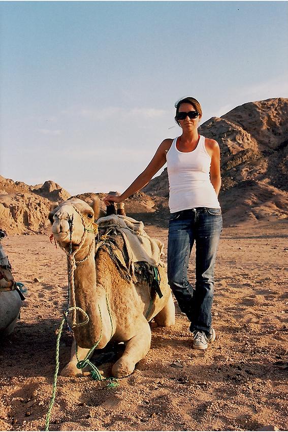 På ferietur til Egypt, en måned før jeg ble syk.