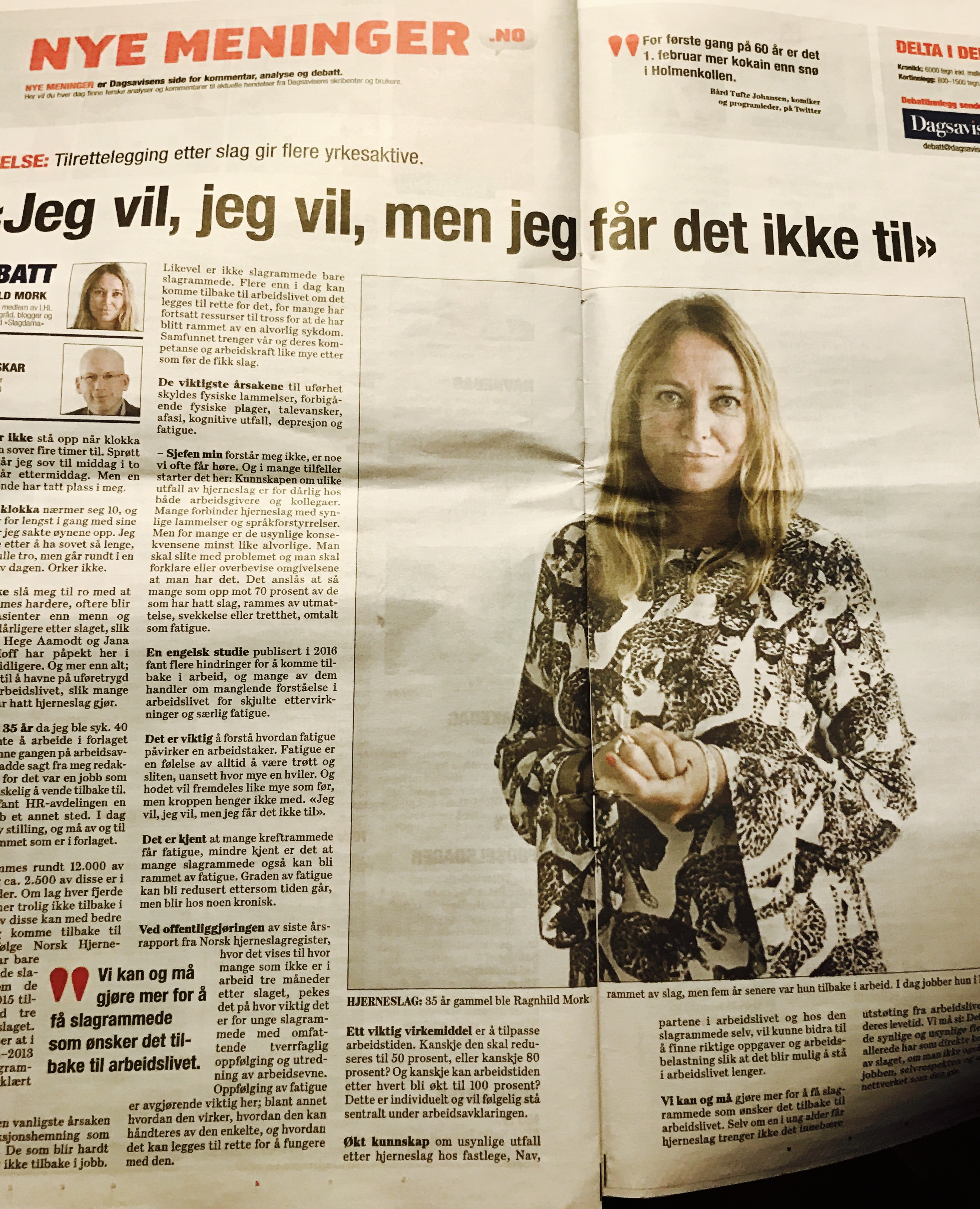 Kronikk i  Dagsavisen,  6. februar 2017.