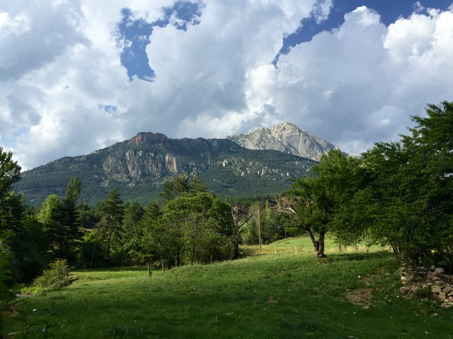 The final section on the way to Gósol, with Pedraforca again in our sights.
