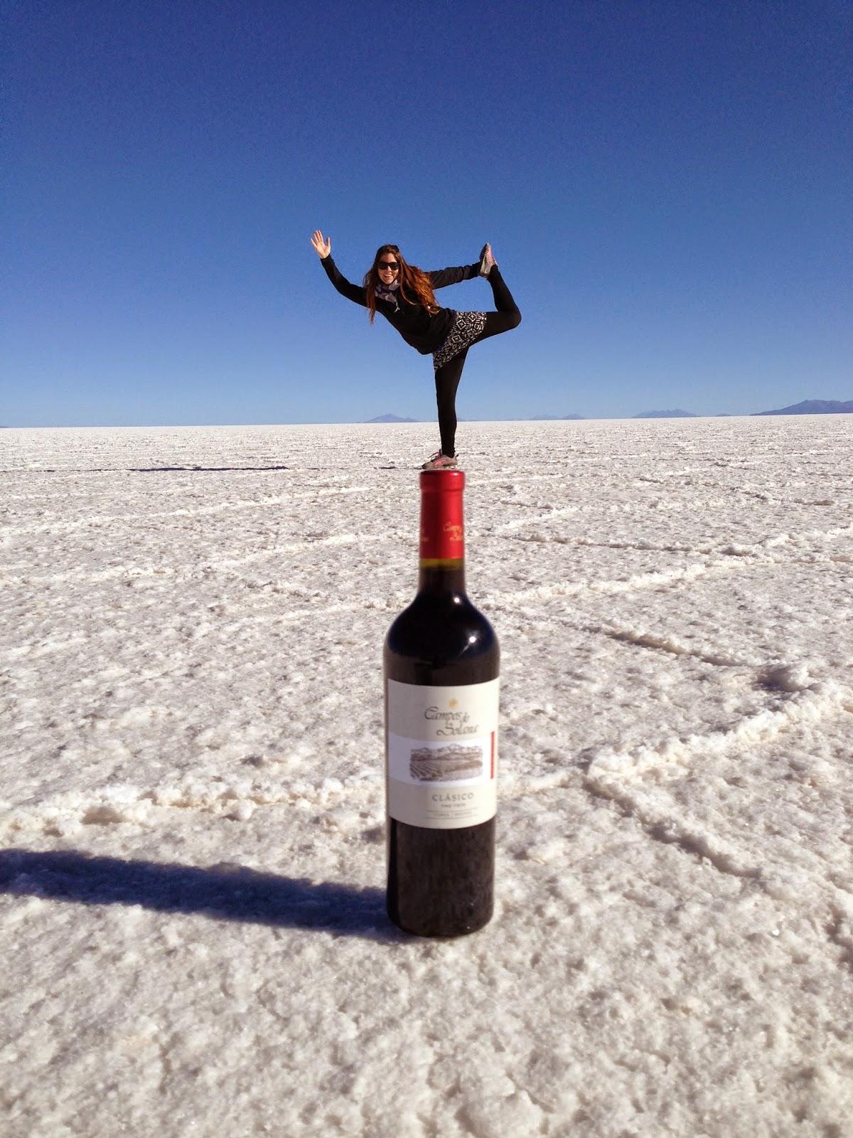 Salar De Uyuni Bolivia Red Planet Wine dancer