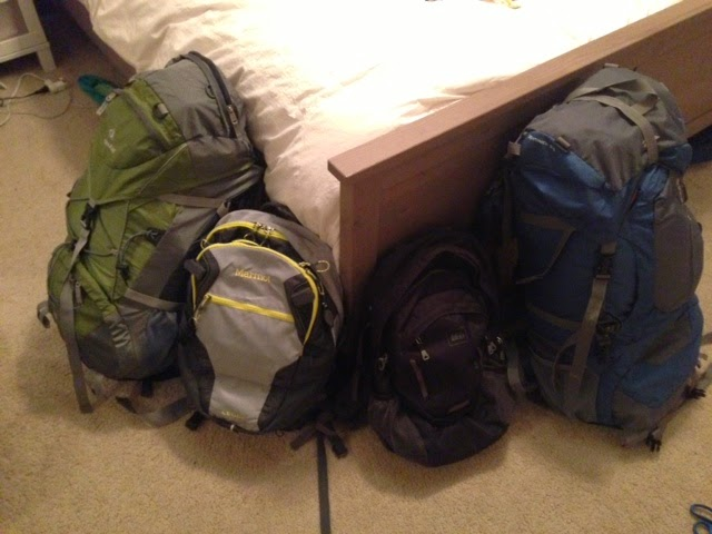So that's everything! It all fit in two big backpacks and two day packs!