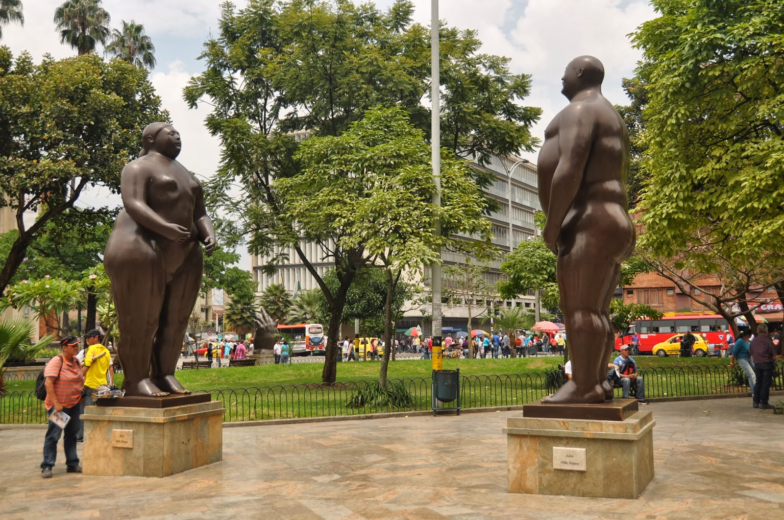 We saw lots of Botero's famous bronze statues