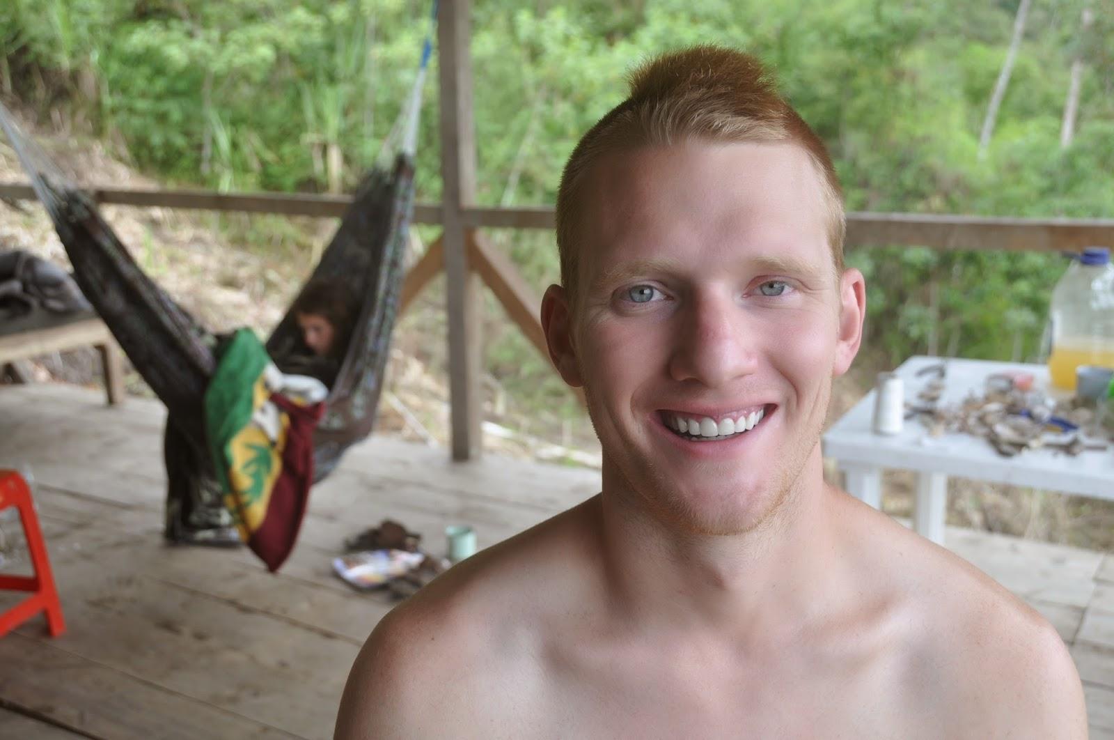 Ben wanted a haircut... so I gave him a Mohawk.