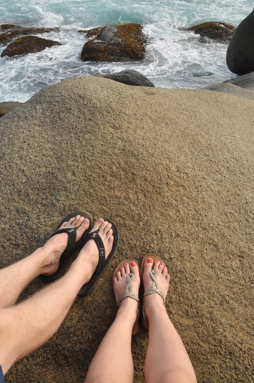 In love with Tayrona. (And yes, we like feet pictures!)