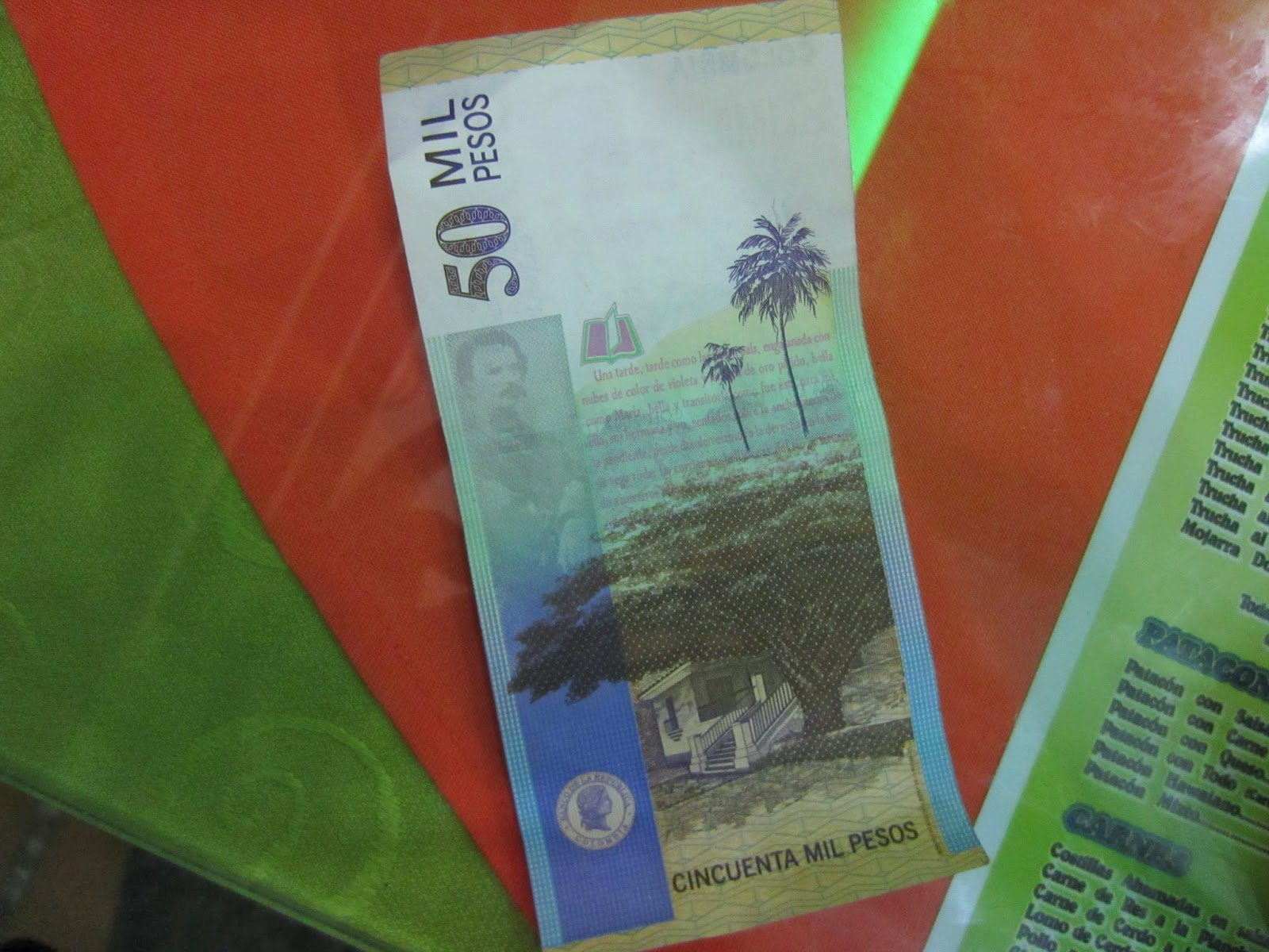 Wax palms are a symbol of Colombia, and are even pictured on the currency.