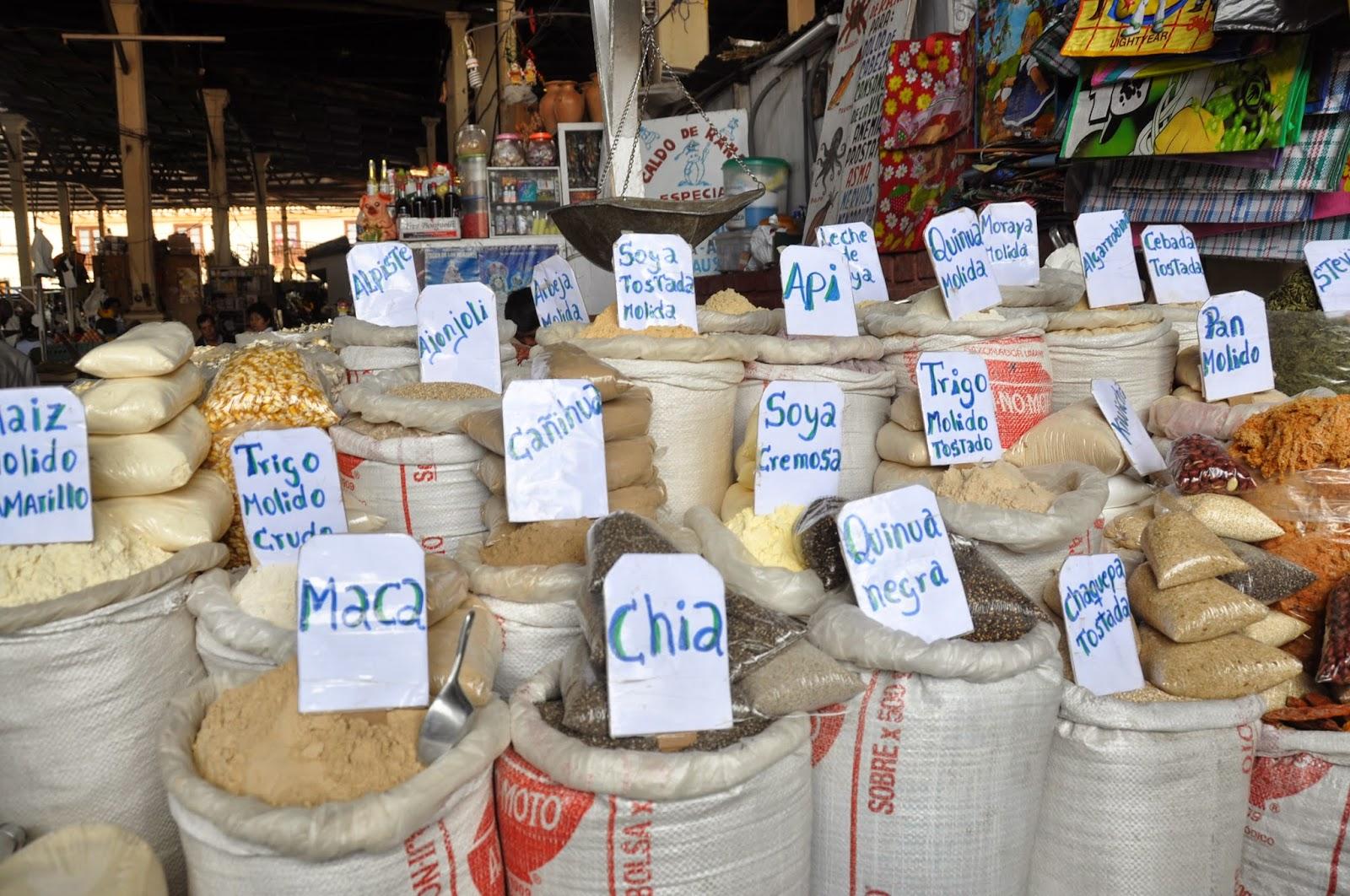 Grains San Pedro Market Cusco Peru
