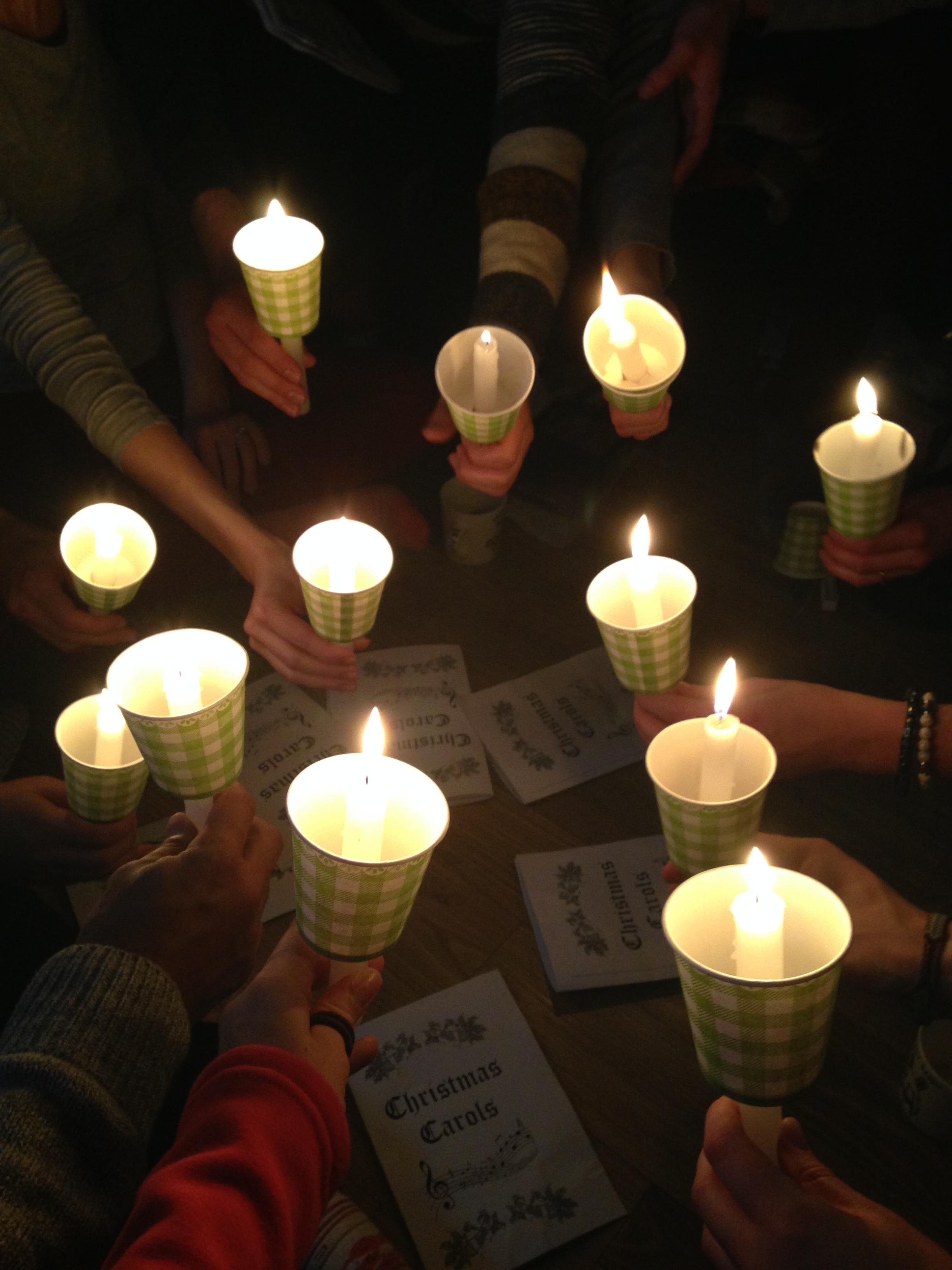 Candlelight singing