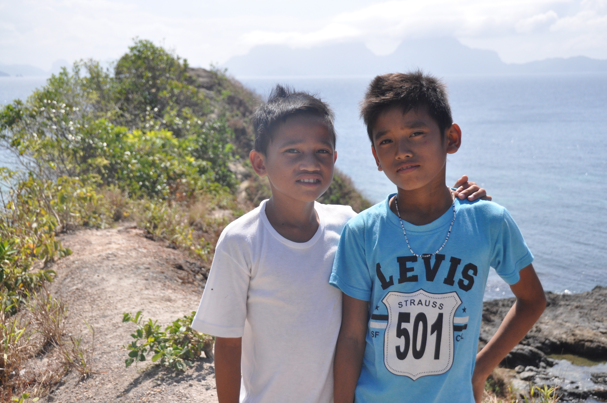 Cesar and Alfonso, two sweet boys we met on a walk near Nacpan Beach.
