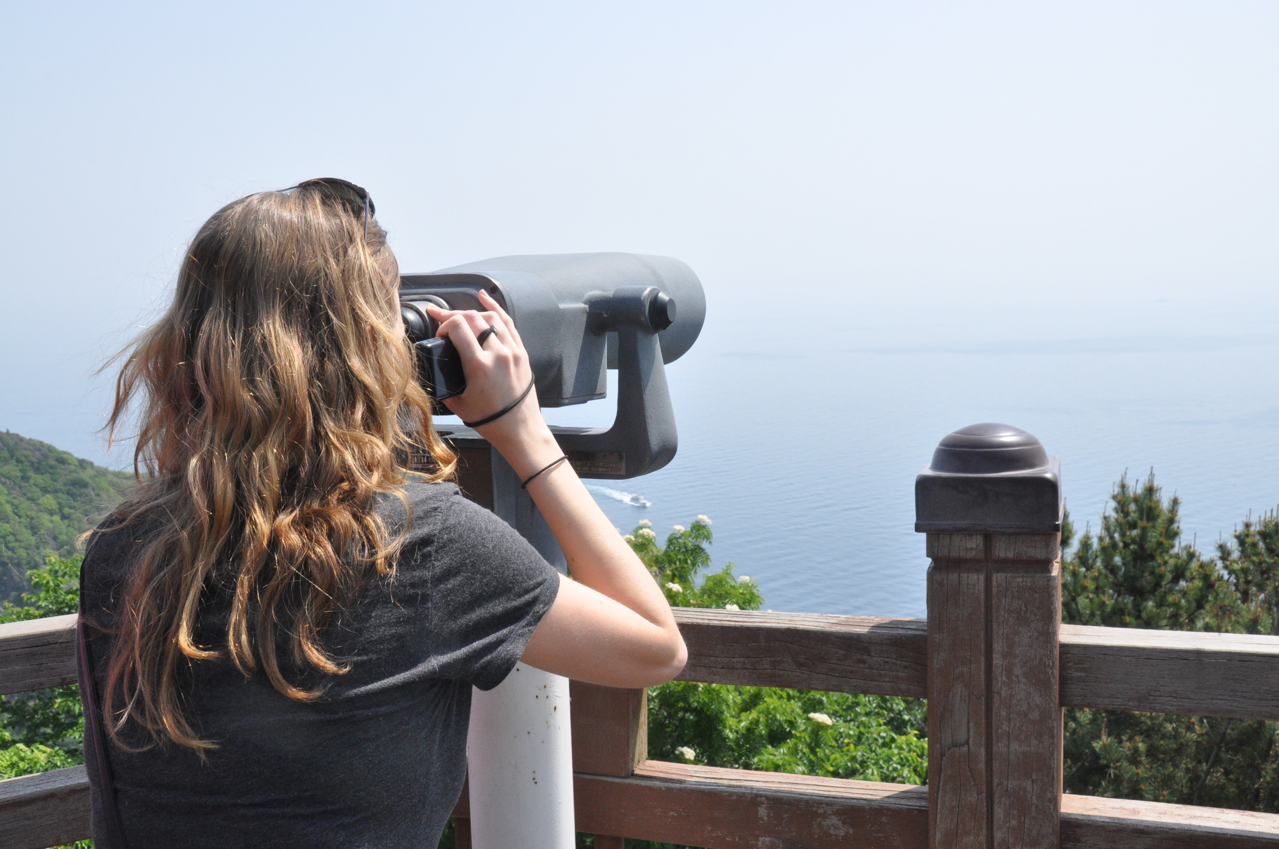 Ulleungdo Looking for Dokdo