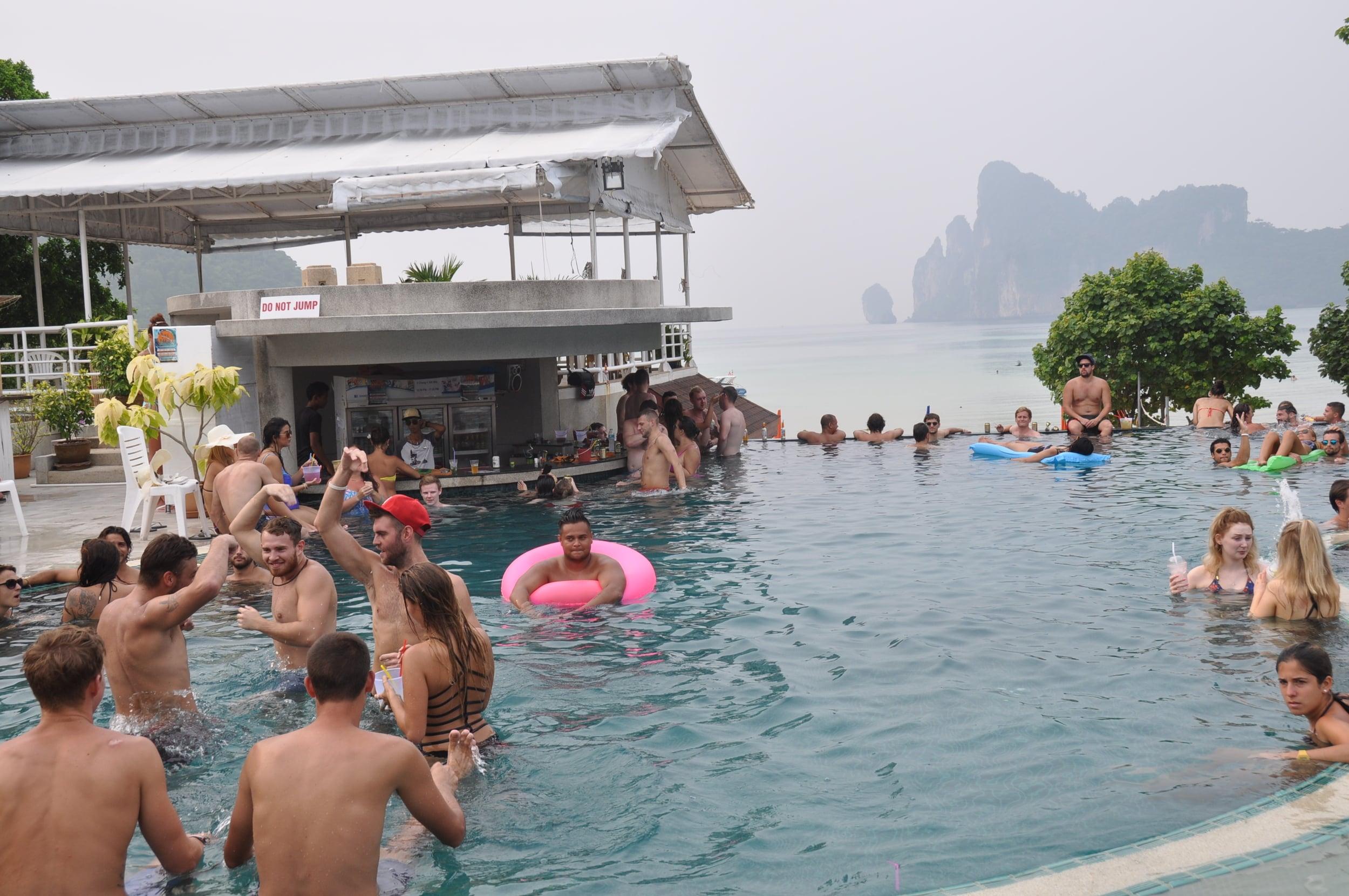 Koh Phi Phi pool party Princess Diamond Resort