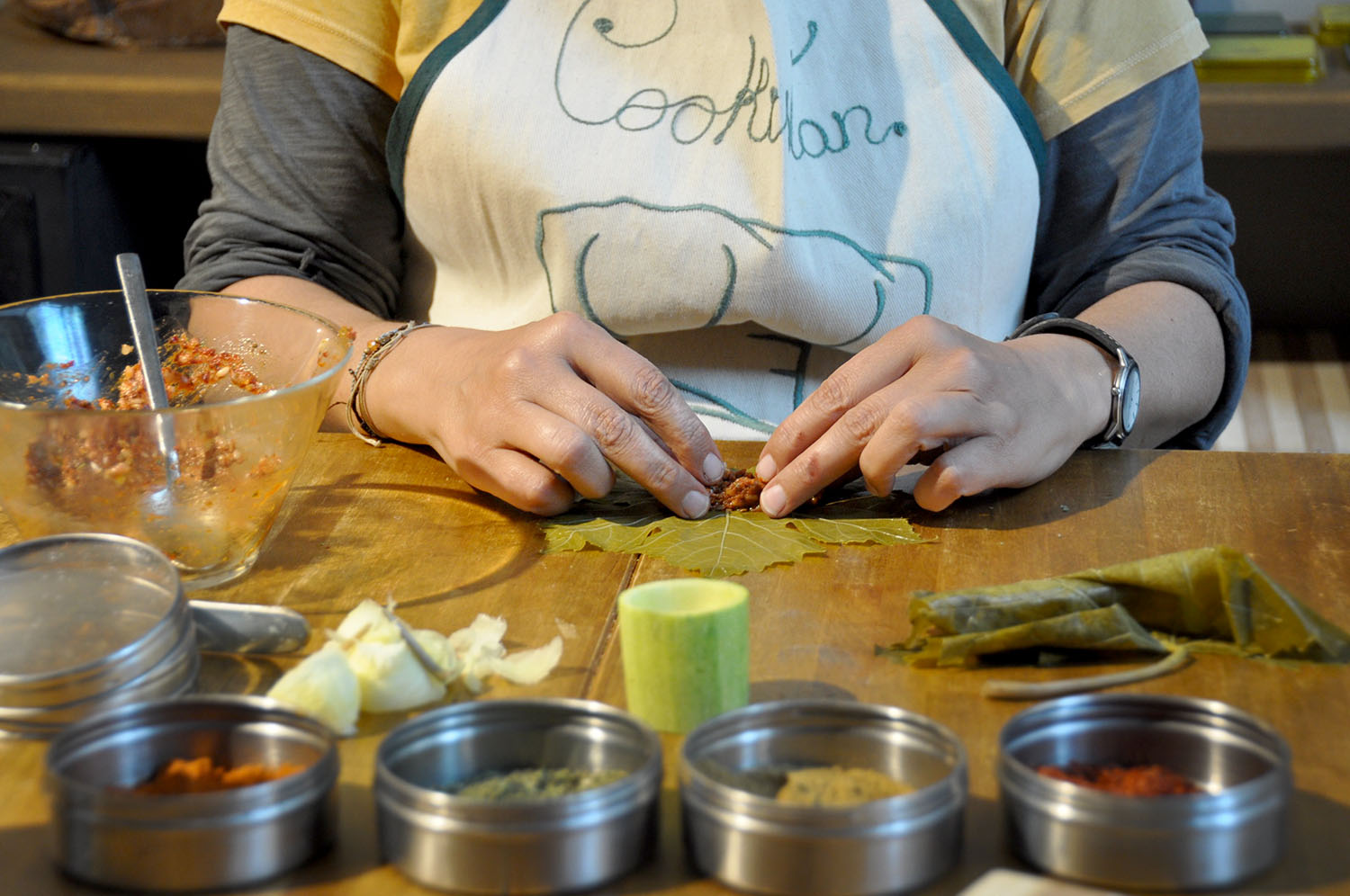 Stuffed Grape Leaves Cookistan Turkish Cooking Class Istanbul