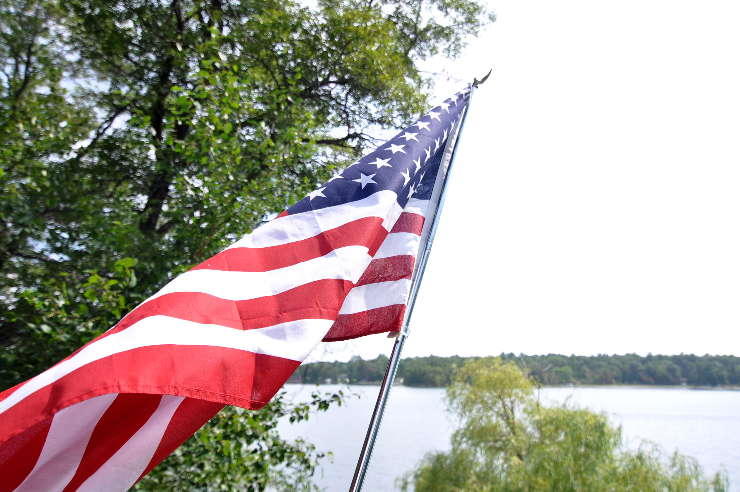 US Flag traveling as an American
