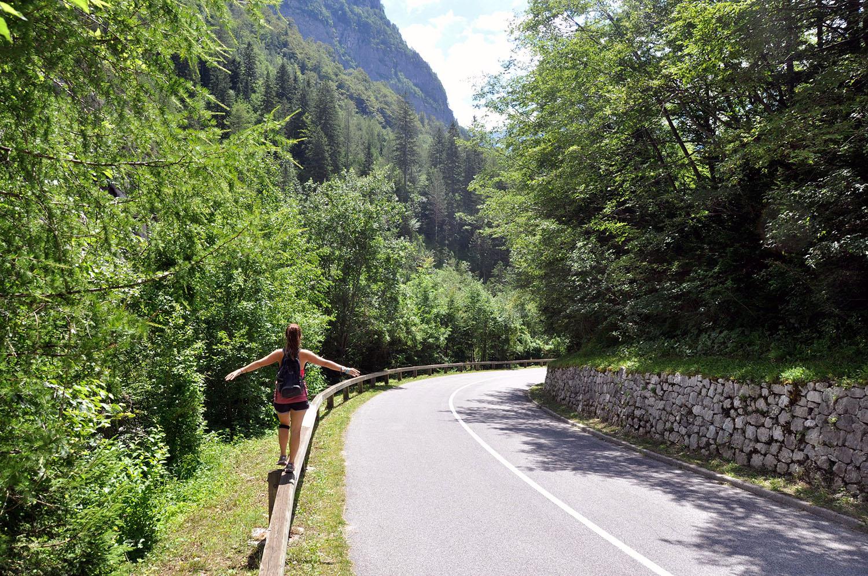 Walking on the open road