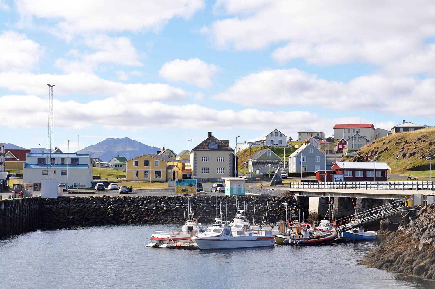 Harbor Town in Iceland