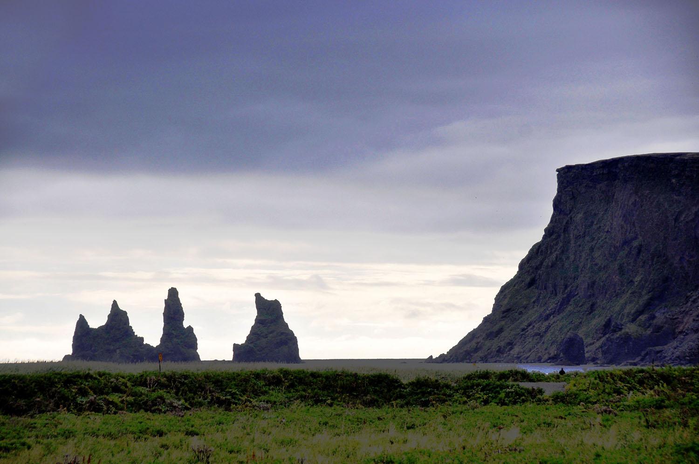 Black sand beach in Vik Iceland