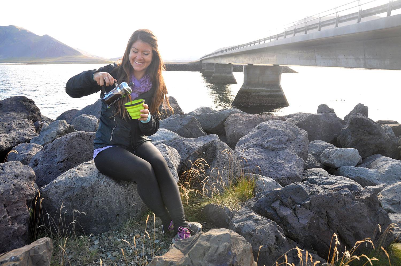 Coffee By Bridge Iceland Camping Equipment
