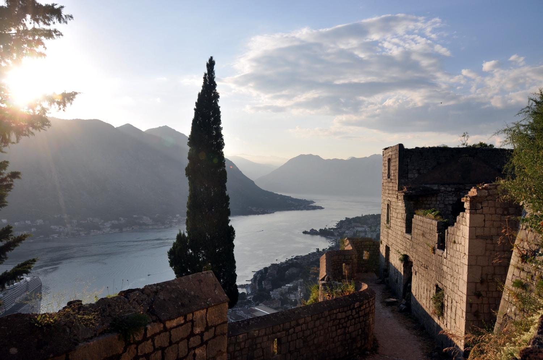 Montenegro Kotor Fortress Sunset Eastern Europe Highlights