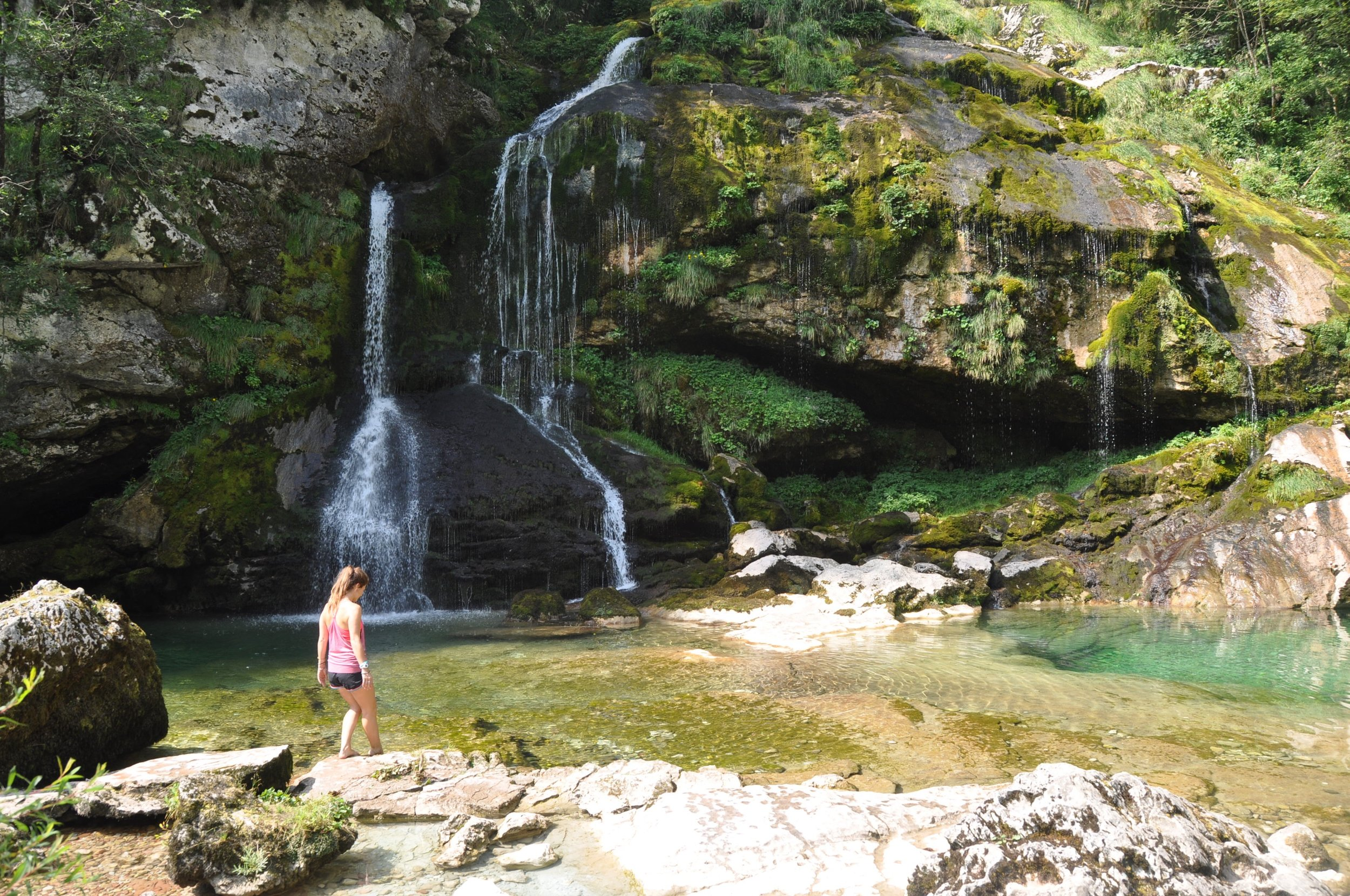 Waterfalls in Bovec, Slovenia visit Eastern Europe
