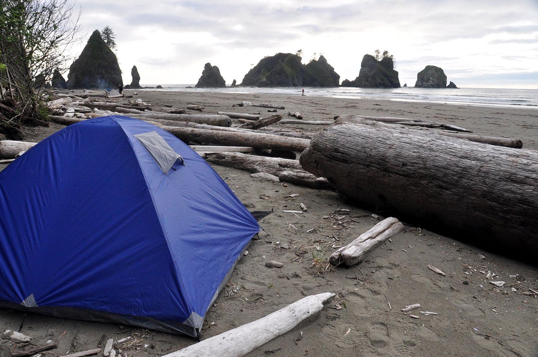 Camping on Shi Shi Beach Olympic Peninsula