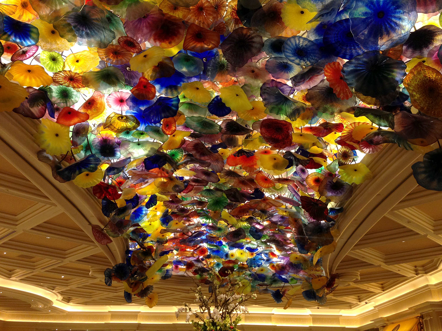 Blown Glass ceiling Las Vegas on a Budget