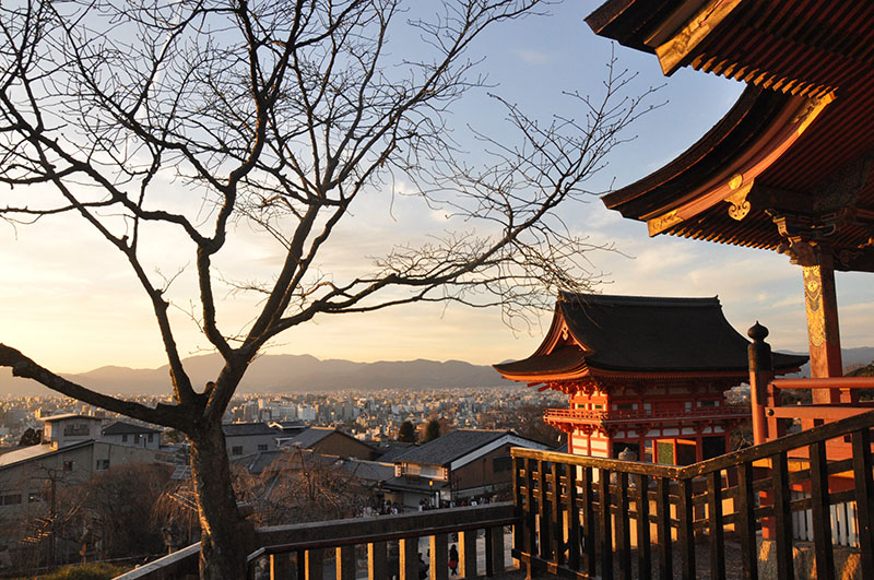 Kiyomizu-dera Temple Kyoto Japan Sunset