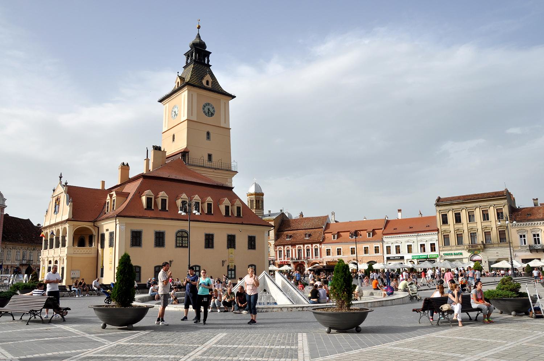 Brasov Romania Town Square