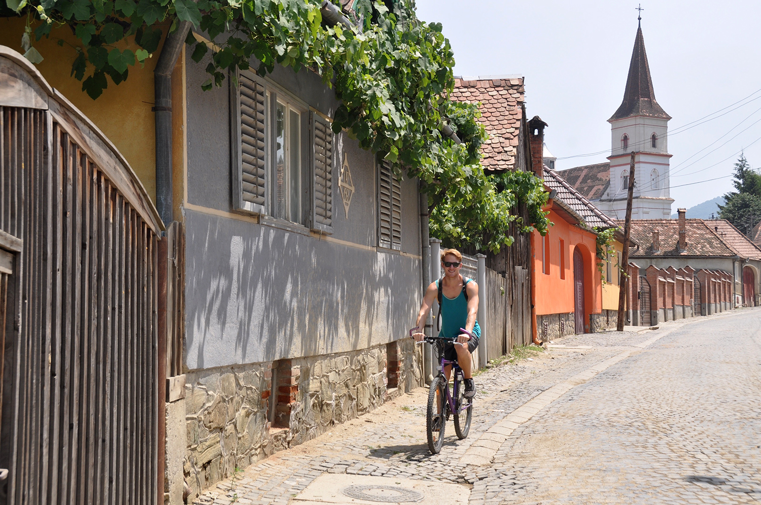Biking in the Romanian countryside and villages near Sibiu
