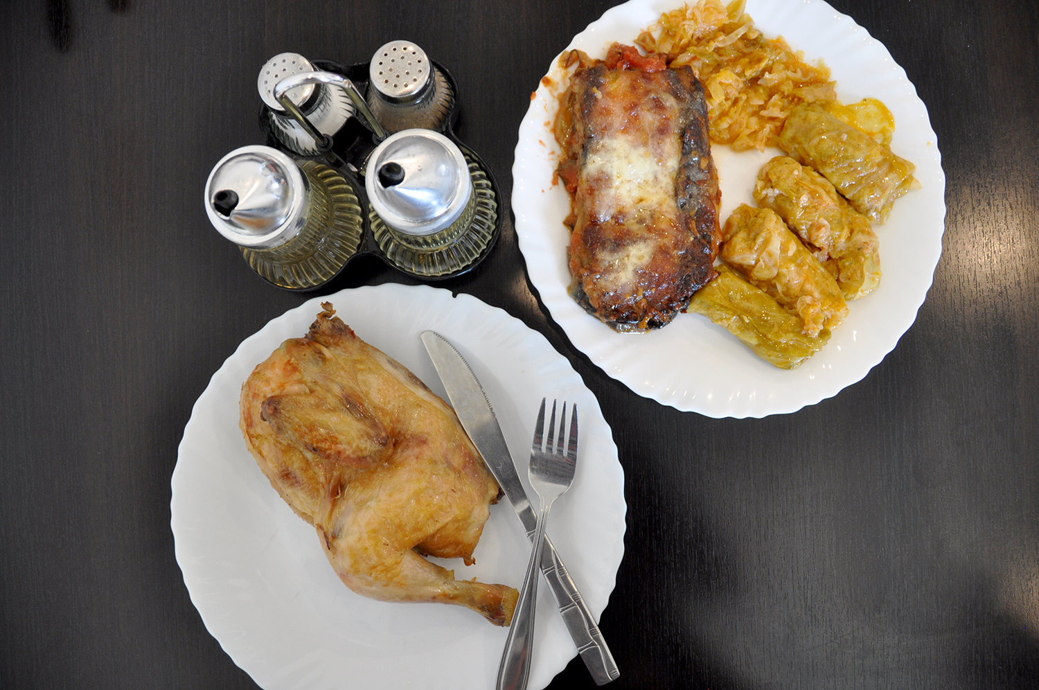 Chicken and Sarmale