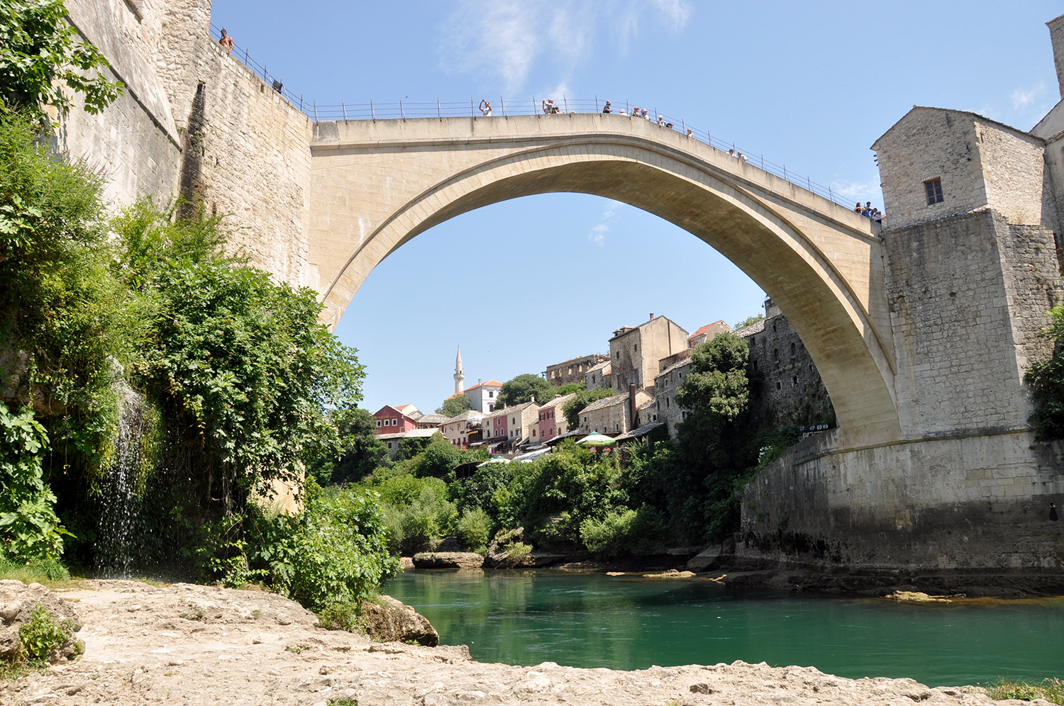 Stari Most Old Bridge Mostar Bosnia Travel