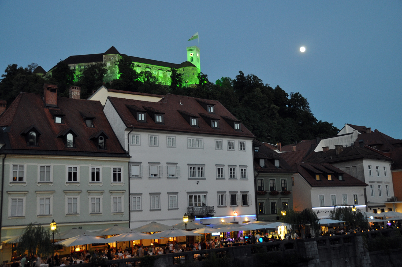 Ljubljana Castle at night Slovenia Travel