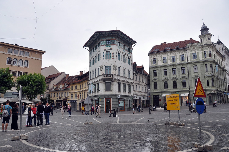 Triple Bridge Square Ljubljana Slovenia Travel