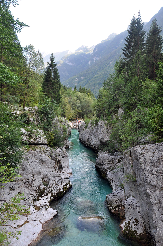 Soca River Bovec Slovenia Travel