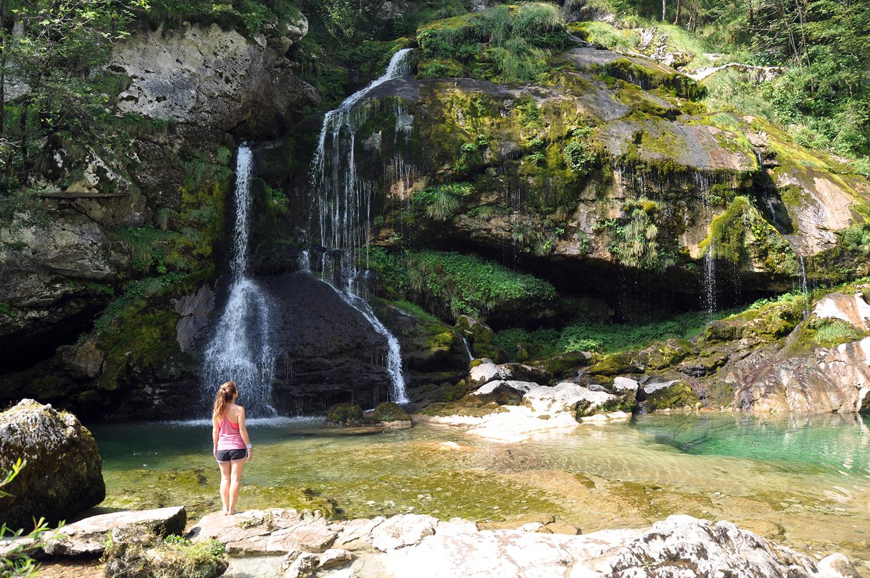 Virje Waterfall Bovec Slovenia Travel