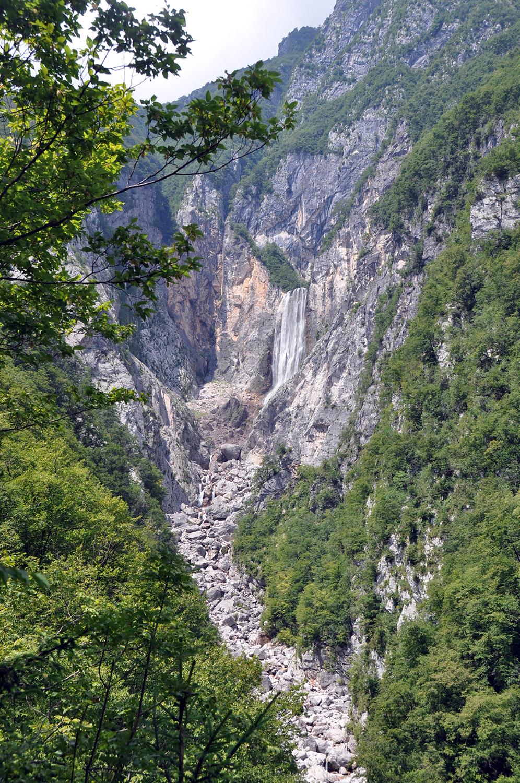 Boka Slap Waterfall Bovec Slovenia Travel