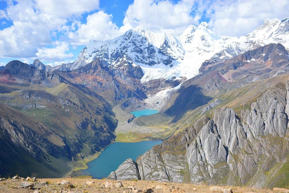 Cordillera Blanca Peru 3 Lakes Lookout HuayHuash
