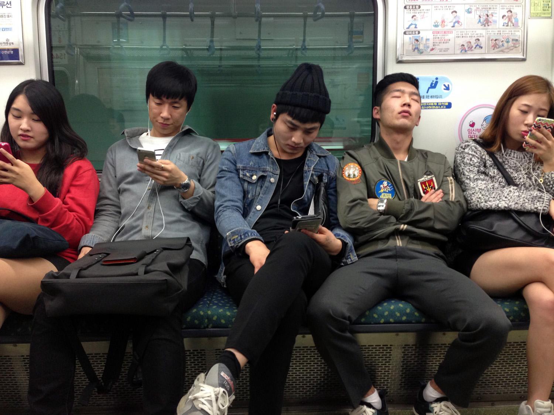South Korea metro cell phones