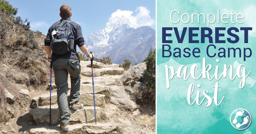 Everest Base Camp Packing List Gear