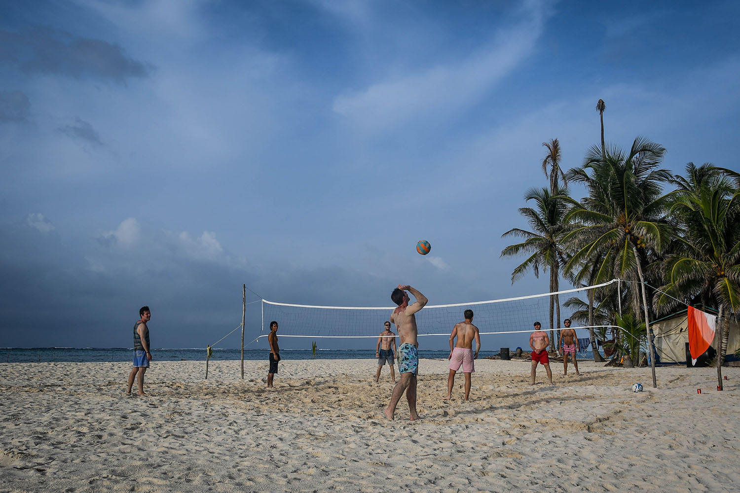 San Blas Islands Panama to Colombia Beach Volleyball
