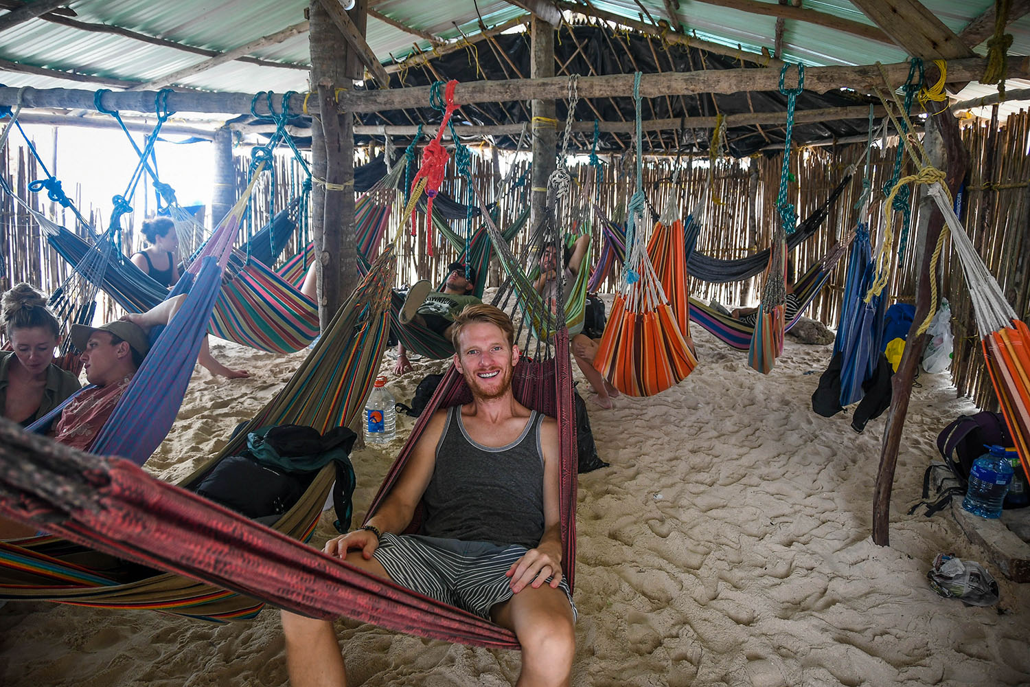 San Blas Islands Panama to Colombia Hammock Accommodation