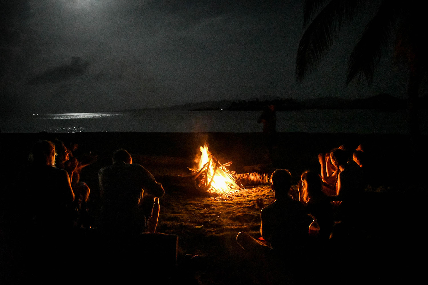 San Blas Islands Panama to Colombia Bonfire