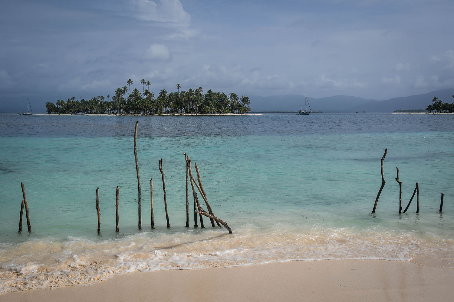 San Blas Islands Panama to Colombia Clear Ocean waters