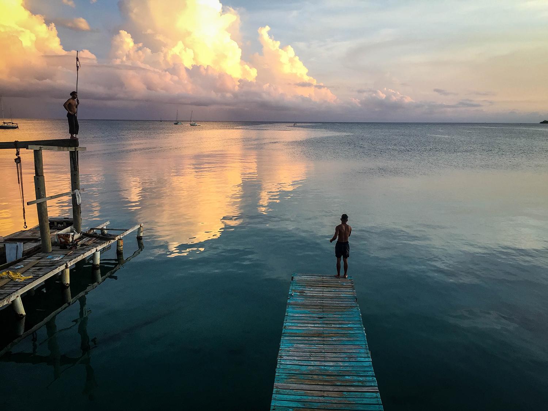 Roatan vs. Utila Honduras Bay Island Docks on Utila