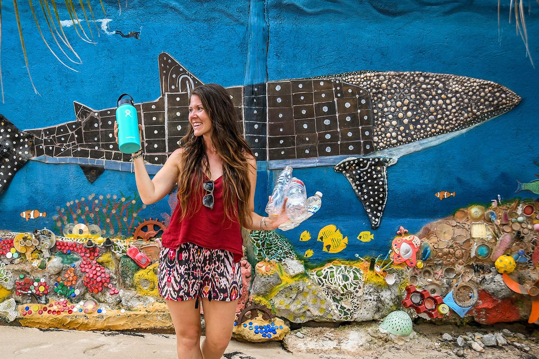 Roatan vs. Utila Honduras Bay Island Plastic clean up