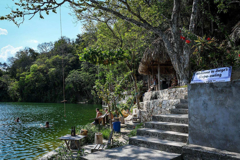 Visit Tikal Guatemala Jorge's Rope Swing