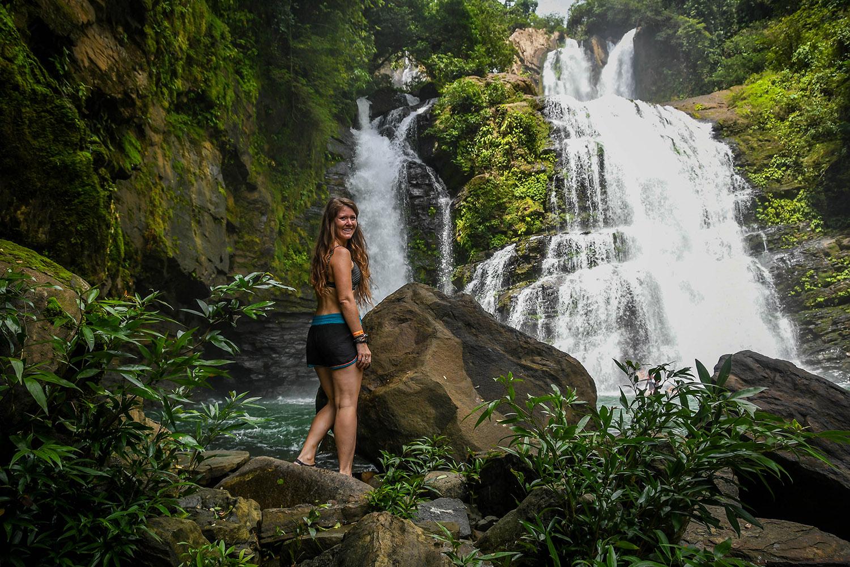 Costa Rica Waterfall Katie